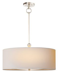 Dining (in silver) THOMAS Ou0027BRIAN DRUM SHADE PENDANT  LARGE PENDANTS  sc 1 st  Pinterest & Large Drum Shade Chandelier | Chandeliers | Pinterest | Drum shade ... azcodes.com