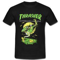 Thrasher Flame Graveyard T Shirt