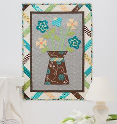 Funky Flowers quilt