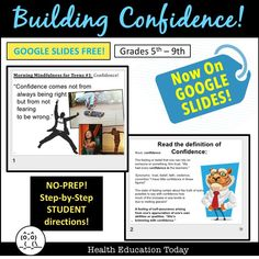 All students should be confident! Get this fully online Google Docs lesson. A 24-Slide Google Slideshow helps students incorporate confidence and assertiveness into their own lives. Finally, students create a thumbprint art project show-casing their traits! Additional optional videos included. 2 to 3-Day lesson! Teacher Freebies, Teacher Resources, Secondary Resources, Teacher Tips, Classroom Resources, Teaching Science, Life Science, Primary Science, Health Lesson Plans