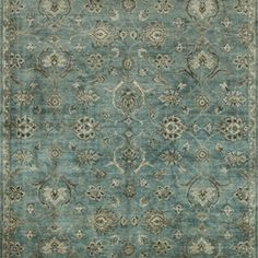 Loloi - Loloi Kensington Blue-Fog Area Rug - The Kensington area rug Collection offers an affordable assortment of Traditional stylings. Kensington features a blend of natural BlueFog color. Handmade of Bamboo Silk the Kensington Collection is an intriguing compliment to any decor.