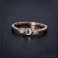 Luxury rose gold engagement ring vintage for your perfect wedding (114)