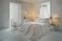 bed, bedroom, canopy, chair, cushions, decor~   Favim  ~
