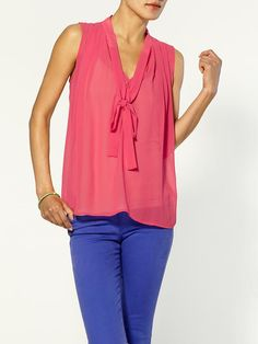 Piperlime   Tie Neck Blouse