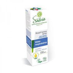 Respir'aroma Spray Bio & Vegan Salvia Eucalyptus Radiata, Ravintsara, Chocolate Slim, Salvia, Allergies, Vegan, Bio, Packaging Design, Nutrition