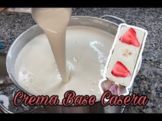 Crema Base casera para Paletas Cremosas - YouTube Food Lists, Popsicles, Dessert Recipes, Mexican Desserts, Glass Of Milk, Icing, Frozen, Easy Meals, Ice Cream