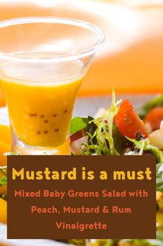 Mixed baby greens salad with peach, mustard & Rum vinaigrette topped with Honey Mustard Almonds and pistachios. Rub Recipes, Great Recipes, Salad Recipes, Pistachios, Almonds, Small Food Processor, Food Processor Recipes, Pistachio Recipes, Mustard Recipe