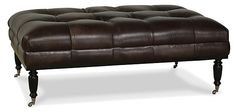 Old Course Leather Ottoman, Chocolate | The Essential Extras | One Kings Lane