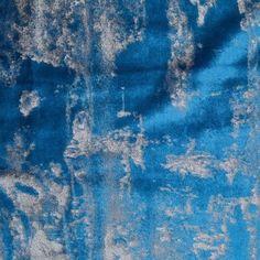 Turkish Metallic Blue Abstract Velvet