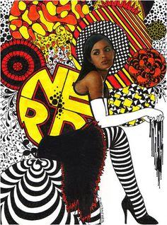 Mixed Media Girls by Nikki Farquharson #art