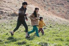 Playing with the local children Drama Korea, Korean Drama, A Werewolf Boy, Song Joon Ki, Park Bo Young, City Hunter, Boys Over Flowers, My Heart Is Breaking, I Smile