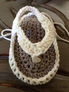 Crochet Child Booties Annoo's Crochet World: Child Flip Flops Free Sample   Crochet Baby Booties