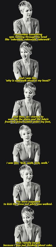 Jennifer Lawrence Talks About Her Famous Fall At The Oscars ( i love this young lady!)