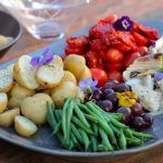 Salad Niçoise with Grilled Snoek Nicoise Salad, Fish And Seafood, Potato Salad, Cooking Recipes, Potatoes, Meat, Chicken, Ethnic Recipes, Chef Recipes