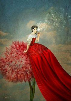 Dama in rosso. (Immagine da Pinterest).