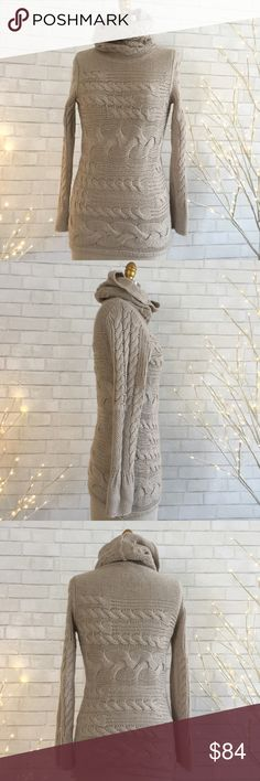 Chunky Knit Turtleneck Fabulous chunky knit turtleneck sweater a favorite look, beautifully crafted design knit. High quality.   So beautiful, soft, warm, hand wash cold, 38% Acrylic 30% wool, 22% viscos, 10% Alpaca.   Ⓜ️chest 36 Ⓜ️sleeves 26 Ⓜ️ length 29   ✅Bundle and save  ✅ ✅ all reasonable offers will be considered No Trading  Poshmark rules only‼️ Banana Republic Sweaters Cowl & Turtlenecks