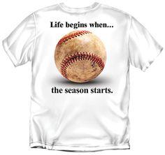 Youth Baseball T-Shirt: Life Begins Baseball