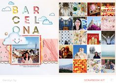 #papercraft #Scrapbook #layout. Barcelona *Main Kit Only* by qingmei at @studio_calico