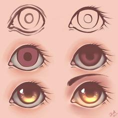 Eyes - Tutorial [2] by julcha97 on DeviantArt