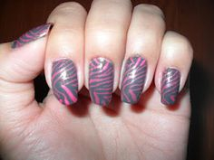 Gray and hot pink zebra stripes