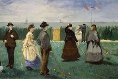 Edouard Manet, French (1832-1883). The Croquet Party, 1871. ۩۞۩۞۩۞۩۞۩۞۩۞۩۞۩۞۩ Gaby Féerie créateur de bijoux à thèmes en modèle unique ; sa.boutique.➜ http://www.alittlemarket.com/boutique/gaby_feerie-132444.html ۩۞۩۞۩۞۩۞۩۞۩۞۩۞۩۞۩