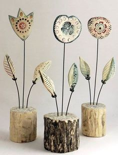 Newest Photo Ceramics projects unique Thoughts Фото Хроники – Shirley Vauvelle Mixed Media Artist Clay Projects, Clay Crafts, Diy And Crafts, Arts And Crafts, Ceramics Projects, Photo Projects, Ceramic Flowers, Clay Flowers, Art Flowers