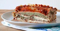 cashew crema vegan lasagne. sub eggplant/ zucchini slices for noodles.