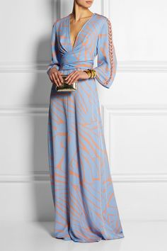 Issa | Francesca printed silk-georgette maxi dress | NET-A-PORTER.COM