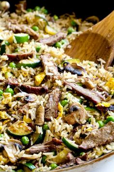 This steak fried rice is a delicious way to use leftover steak and rice for a new and exciting meal. Leftovers never tasted this good! Leftover Steak Recipes, Easy Steak Recipes, Grilled Steak Recipes, Leftovers Recipes, Rice Recipes, Meat Recipes, Asian Recipes, Cooking Recipes, Healthy Recipes