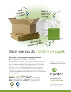 Anúncio Ingredion Indústria de papel