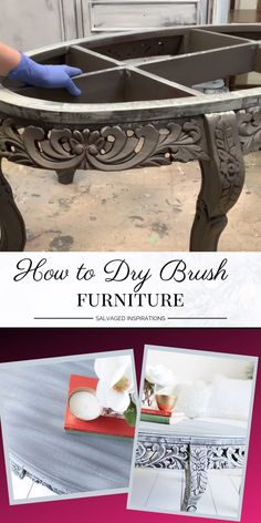 I've included a short Dry Brushing Video in today's post. I'm sharing how fast and easy it is to dry brush furniture to get dramatic results — just wait until you see this before and after! diy ideen videos How to Dry Brush Furniture