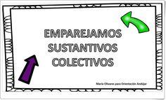 """Emparejamos sustantivos colectivos"" (Cuadernillo de nombres individuales y colectivos) Content, Project Based Learning, Teaching Resources, Names, Notebooks"