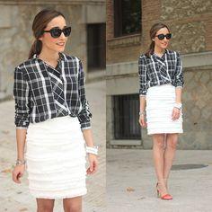 H&M Skirt, Zara Shirt