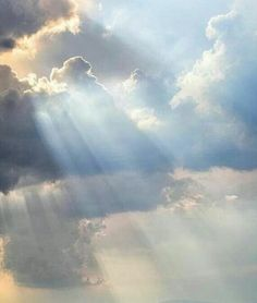 Sun through the clouds.