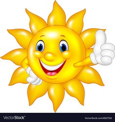 Illustration of Vector illustration of Cartoon sun giving thumbs up isolated on white background vector art, clipart and stock vectors. Cartoon Sun, Cute Cartoon, Puzzle Games For Kids, Animated Gif Maker, Rock Crafts, Vector Art, Animation, Clip Art, Backgrounds