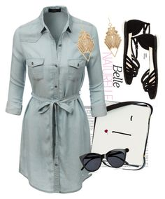 """#HUNDRED-AND-EIGHTY-TWO"" by mimidolly ❤ liked on Polyvore featuring Lulu Guinness, LE3NO, Charlotte Russe and Le Specs"