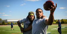Richard Sherman and Bobby Wagner Crush Objects While Riding a Tank | Seattle Seahawks