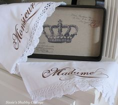 So pretty I want to create some pillowcases like these