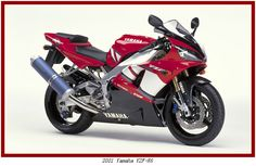 2001 Yamaha YZF-R6 in red