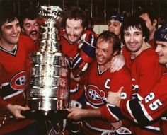 The Montreal Canadiens Stanley Cup Champions. Hockey Girls, Hockey Mom, Hockey Teams, Hockey Players, Flyers Hockey, Montreal Canadiens, Mtl Canadiens, Ken Dryden, Hockey Pictures