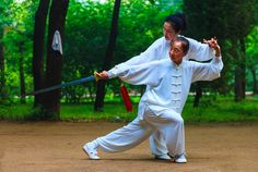 #Tai Chi, the ancient Chinese martial art.