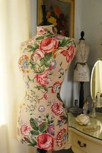 rose mannequin - undecided if I should recover my antique dressform...