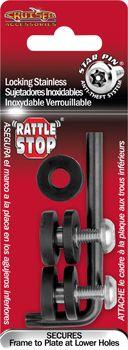 Locking Fasteners, Rattle Stop License Plate Frame Hardware
