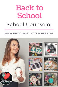 This is perfect for School Counselors to kick off the school year with a bang. This bundle includes a presentation to showcase your role in the school to parents and staff. It also includes crafts for students to get to know each other. Finally, it has a kit for decorating the teacher's lounge to boost staff morale, including printable tags for treats. #staffmorale #meetthecounselor #schoolcounselor #elementaryschoolcounselor