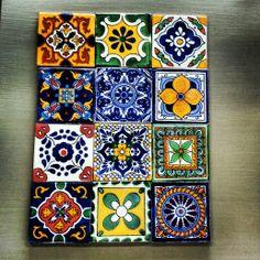 Talavera tiles 4x4 at Barrio Antiguo Houston Texas (713)880 2105 sales@barrioantiguofurniture.com