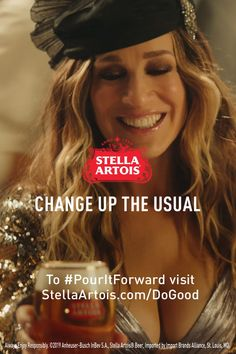 Carrie couldn't help but wonder...if enjoying Stella Artois can help give access to clean water to someone who needs it, why choose anything else?  Whether Carrie's at the bar or hosting an impromptu soiree, it's never been easier for her to change up the usual and do good. Be like Carrie. #PourItForward