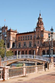 Seville Spain-sister city to Kansas City's Country Club Plaza.  The same statue sits in both cities.  Amazing resemblance to our city.