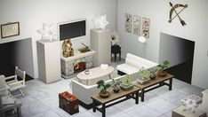 Animal Crossing Wild World, Animal Crossing Game, Living Room Images, Living Room Designs, Living Room Inspiration, Decoration, Sims, Modern Living, Room Ideas