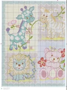 Cross Stitch Owl, Cross Stitch Books, Cross Stitch Animals, Cross Stitch Charts, Cross Stitching, Cross Stitch Embroidery, Diy Baby Gifts, Baby Crafts, Everything Cross Stitch