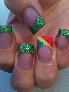 St. Patrick's day nails!   CREDIT: Beauty Is Payne on Facebook